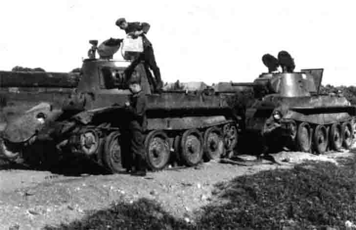 BT-7 tanks captured by the Wehrmacht