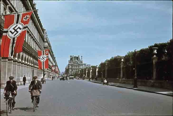 Rue de Rivoli in occupied Paris