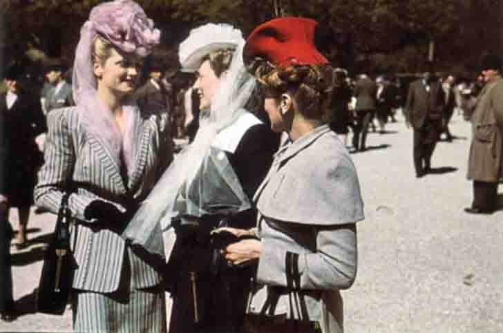 Rose Valois, Madame le Monnier and Madame Agnes in Longchamp in occupied Paris