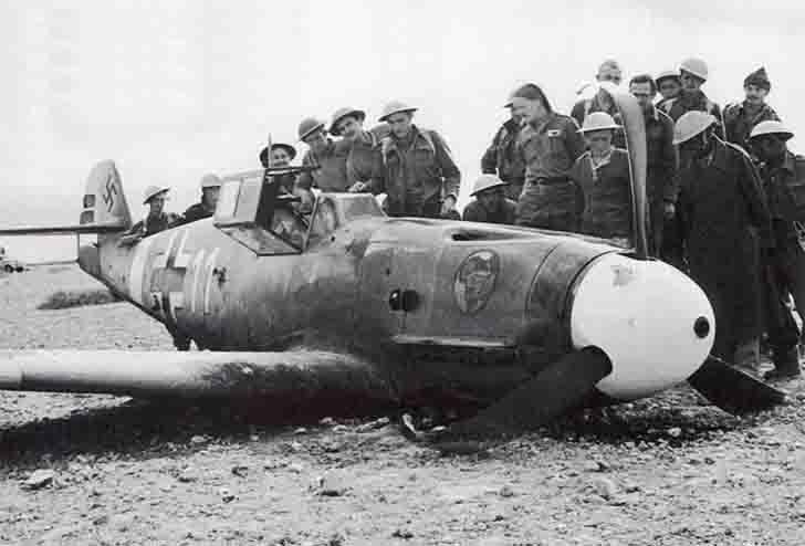 Messerschmitt Bf-109F-2 Trop of Albert Espenlaub after emergency landing