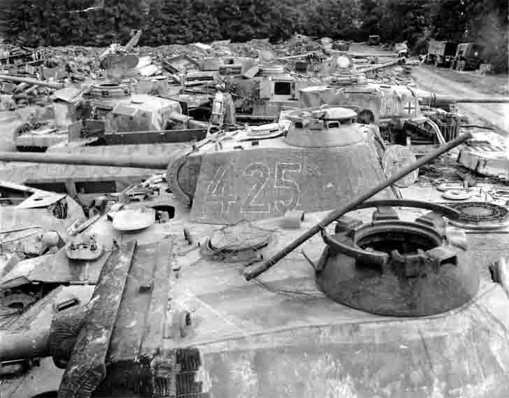 Dumping ground of German armored vehicles