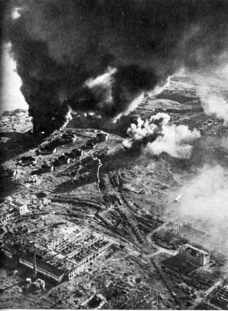 Stalingrad in fire