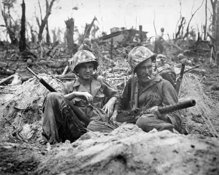 US Marines in the Battle of Peleliu Island