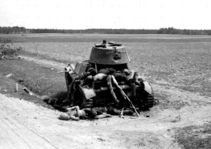 Destroyed OT-133 light tank