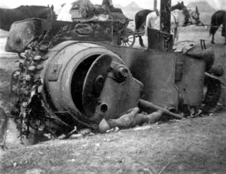 Burnt BA-10 armored car