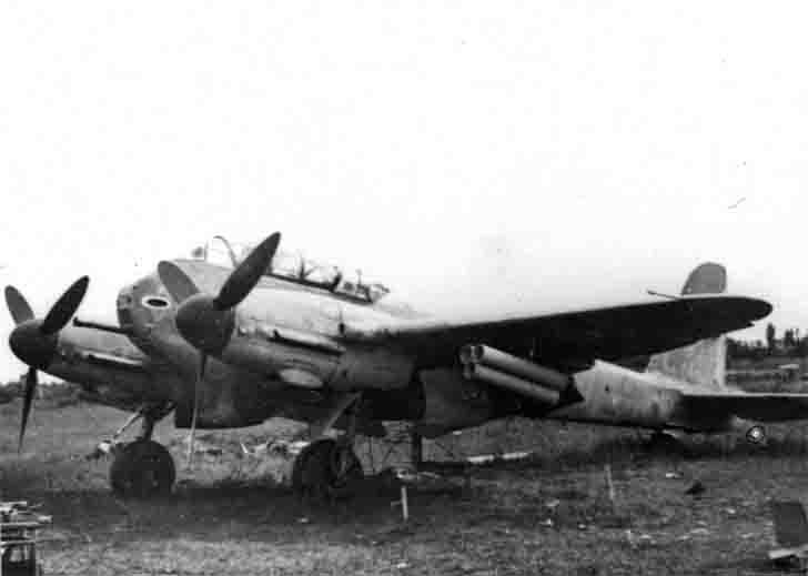 Hungarian Messerschmitt Me.210Ca-1 with rockets «Nebelwerfer»