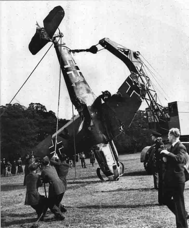 The evacuation of Luftwaffe Messerschmitt BF109 fighter