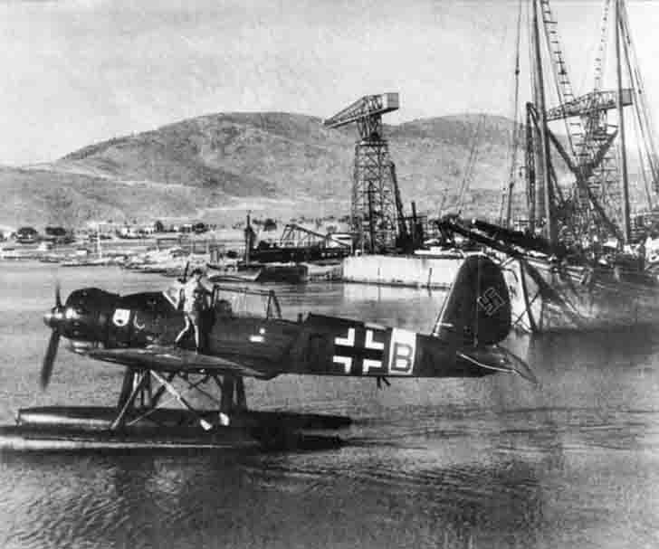 German Ar.196a-2 aircraft on the island of Crete
