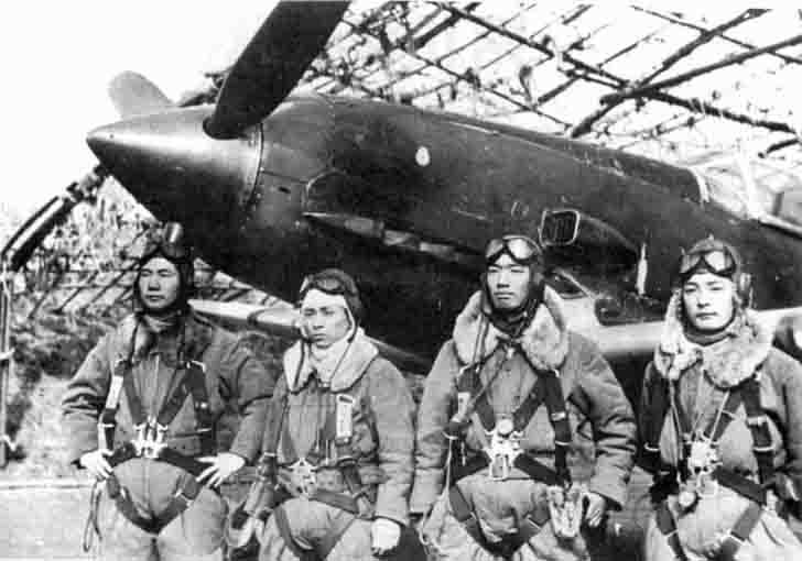 Japanese pilots before a combat mission