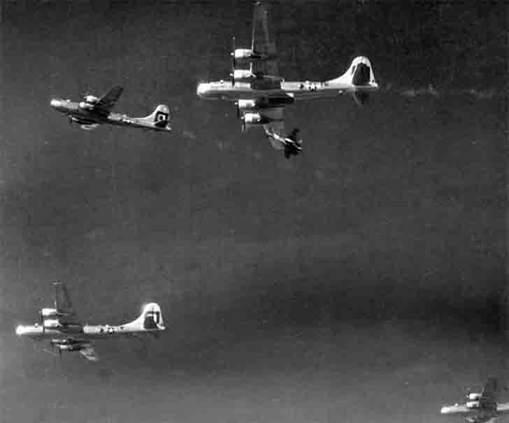 Japanese fighter Attack of the B-29 Superfortress bomber
