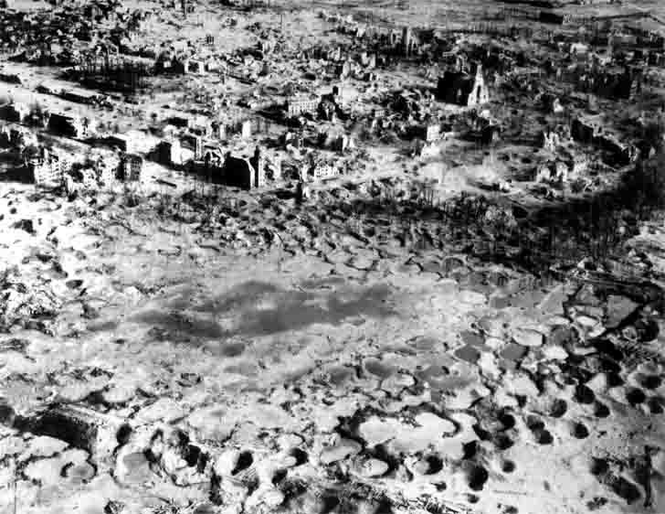 """Moonscape"" - City Wesel after the American carpet bombing"