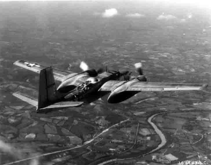 American medium bomber A-26 in flight