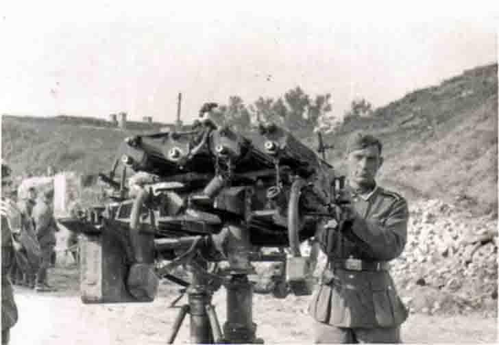 "Soviet Quad ""Maxim"" anti-aircraft machine gun"