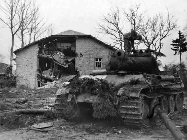 """Panther"" Tank from the SS Division ""Das Reich"" in Grandmenil"