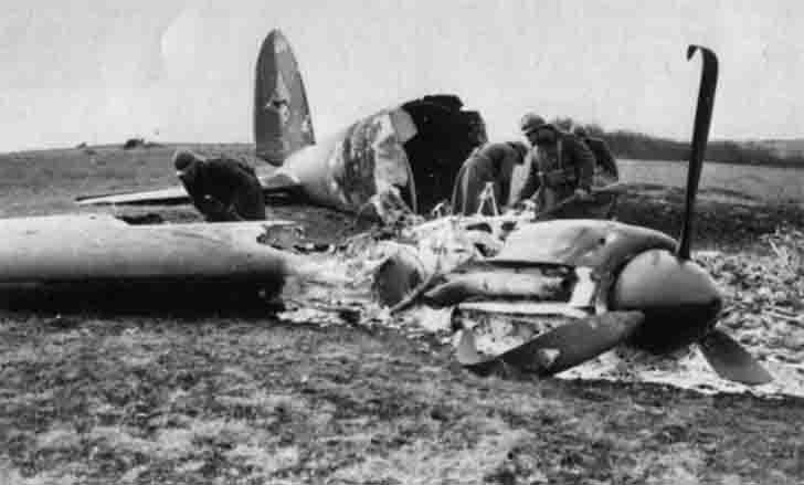 Downed Heinkel He-111 bomber