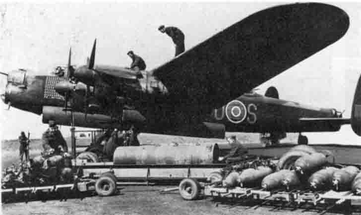 "Bomber ""Avro Lancaster"" is preparing for a combat mission"