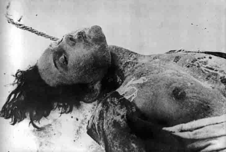 The body of the executed Zoya Kosmodemyanskaya
