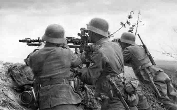 The firing position of MG.34 heavy machine gun