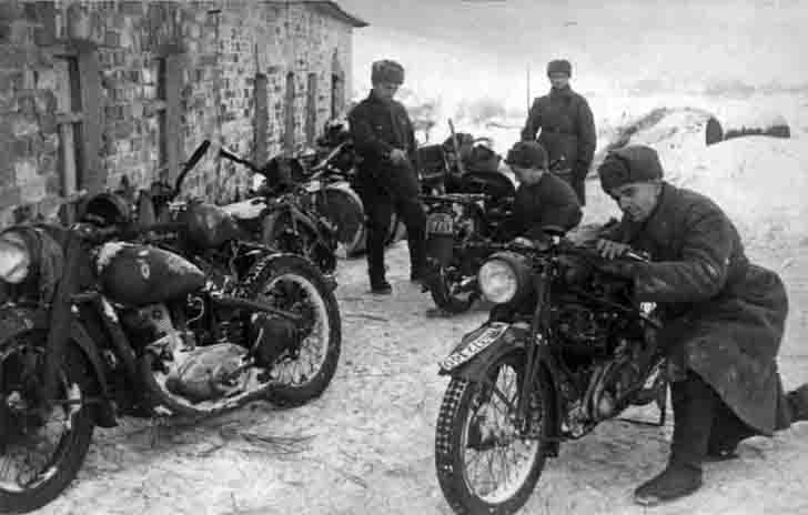 German motorcycles in the Red Army