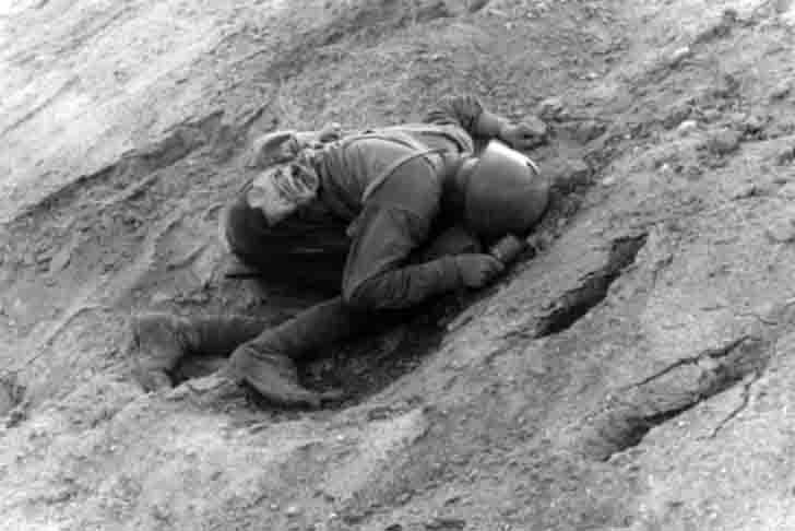 The dead soldier of the Red Army