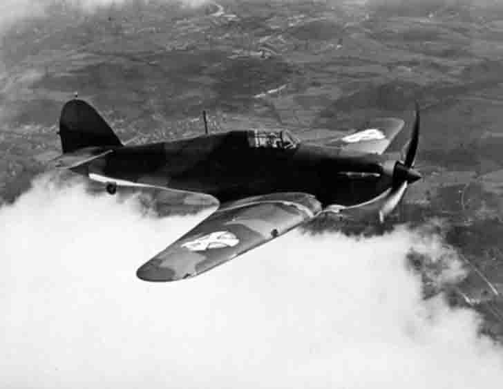 "Yugoslavian ""Hurricane"" fighter in flight"