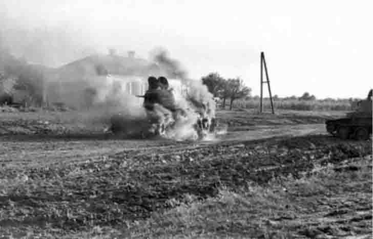 Destroyed BT-7 tank