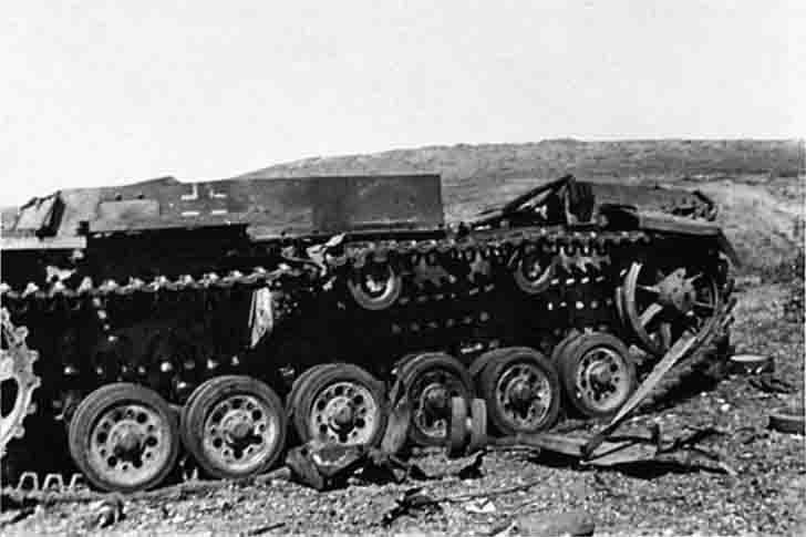 PzKpfw III in Sevastopol, which was destroyed by the explosion of ammunition