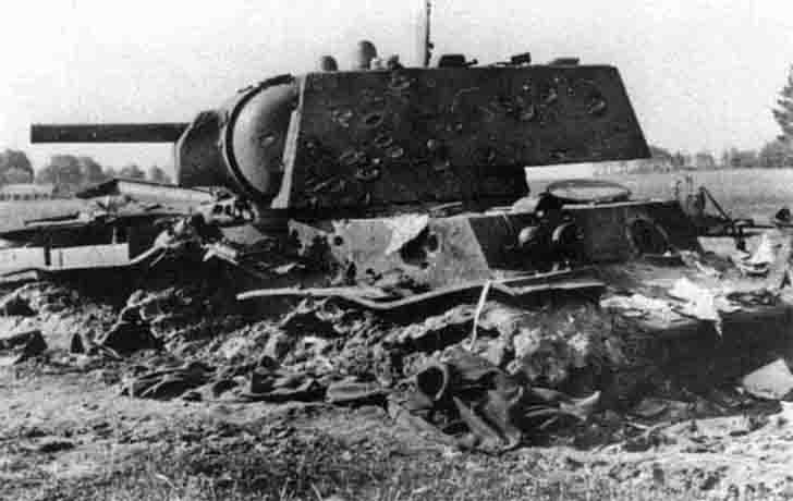 Destroyed Soviet KV-1 tank