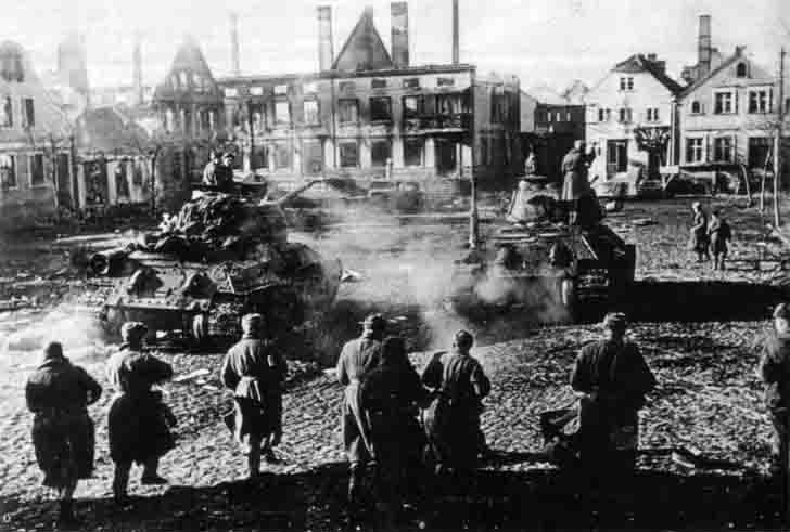 Soviet troops freed the city Frauenburg