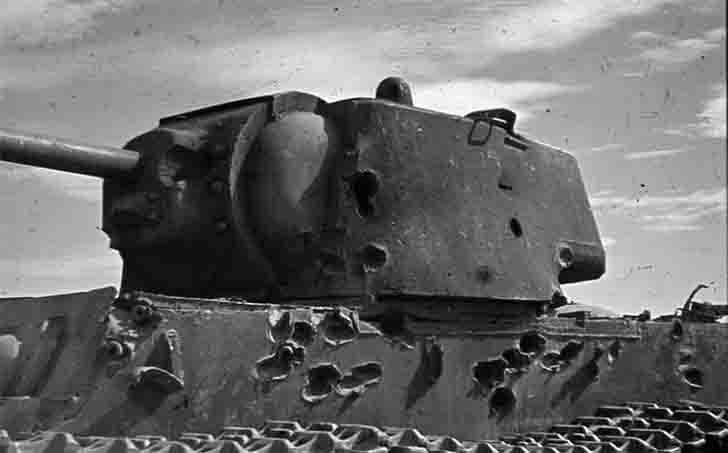 Destroyed in Stalingrad the Soviet KV-1 heavy tank