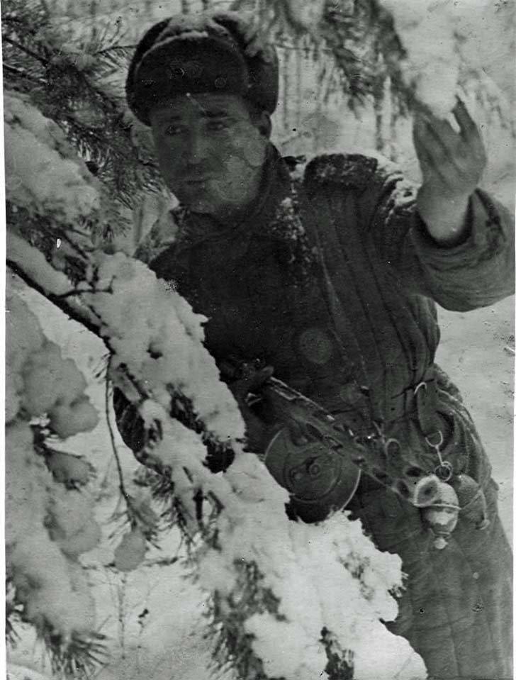 Scout M.F. Gapuschenko oversees opponent