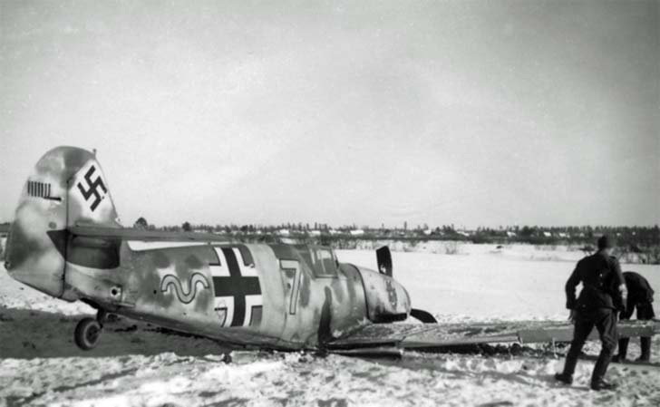 Downed German Messerschmitt Bf.109 fighter
