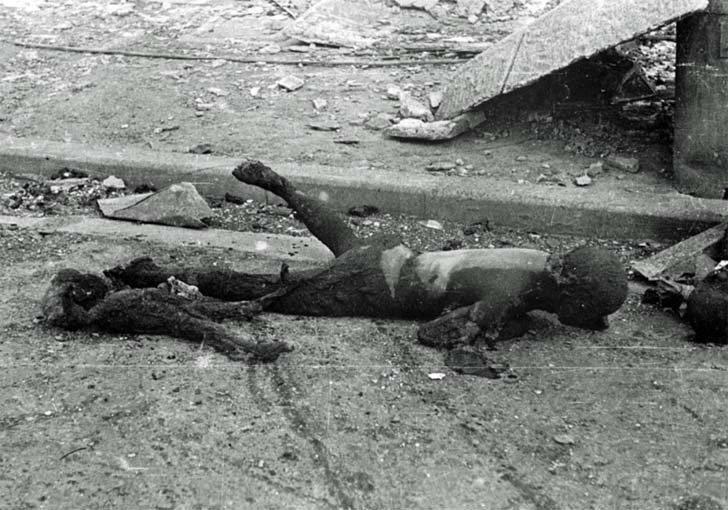 Victims of the American carpet bombing of Tokyo
