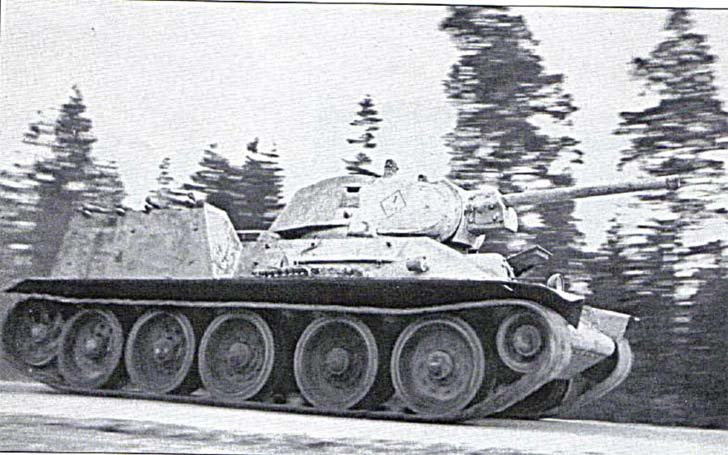 T-34 tank with FOG explosive flamethrower