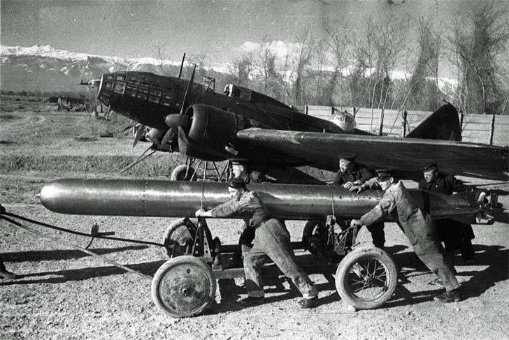 Il-4T prepared for a combat flight
