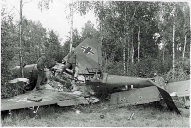 Wreckage Junkers Ju-87 on the USSR territory