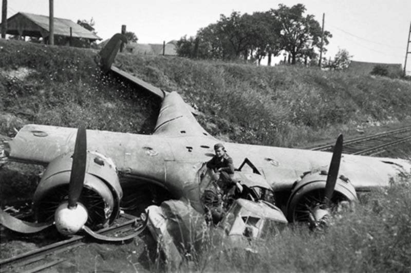 Downed Dornier Do.17Z from the 76th Luftwaffe bomber squadron