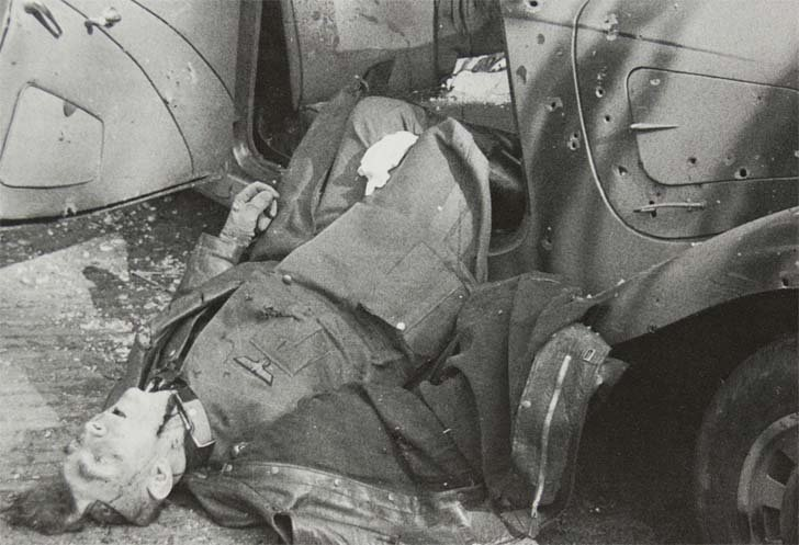 The corpse of German general Friedrich Kussin