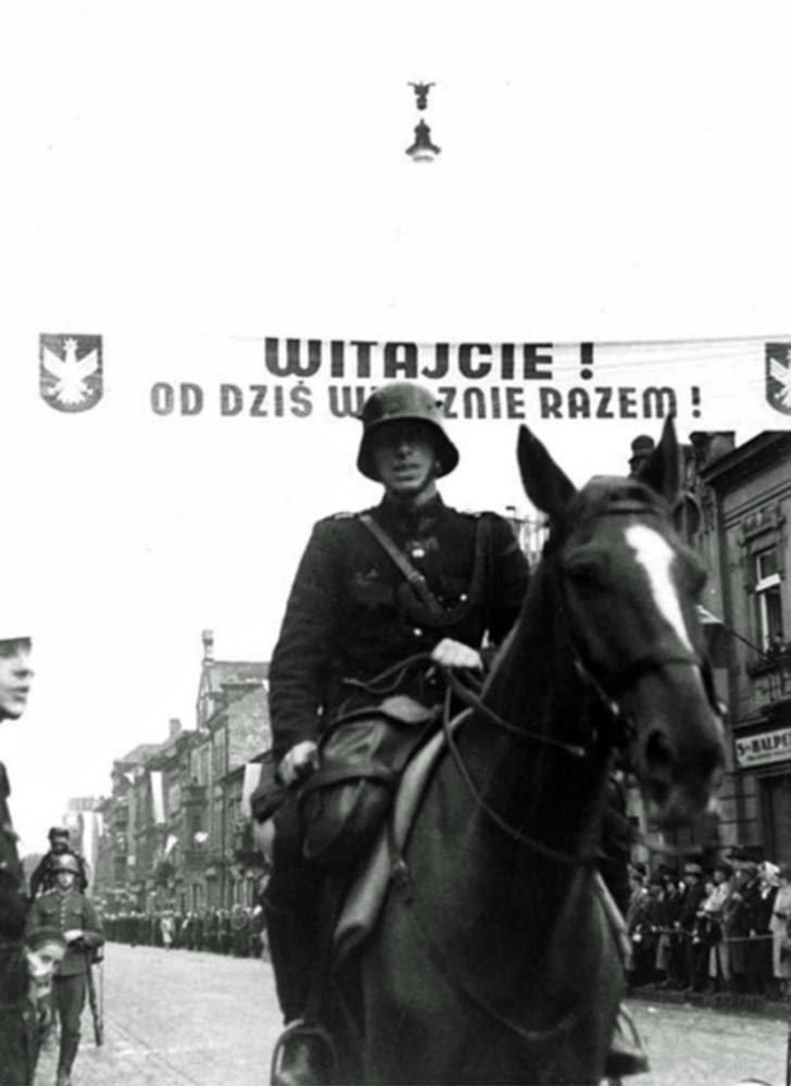 Polish troops occupied Czech town of Těšín