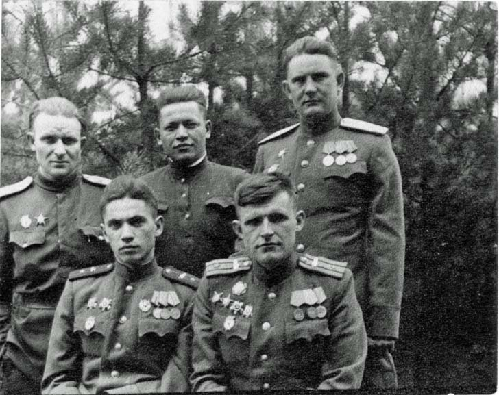 Soviet officers before the Battle of Berlin