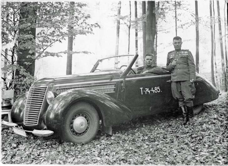 Captured German car «STEYR»