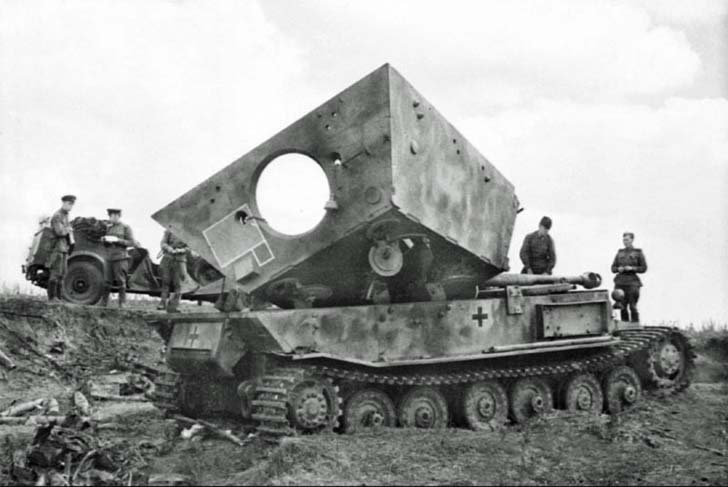 """Ferdinand"" assault gun, destroyed by internal explosion"