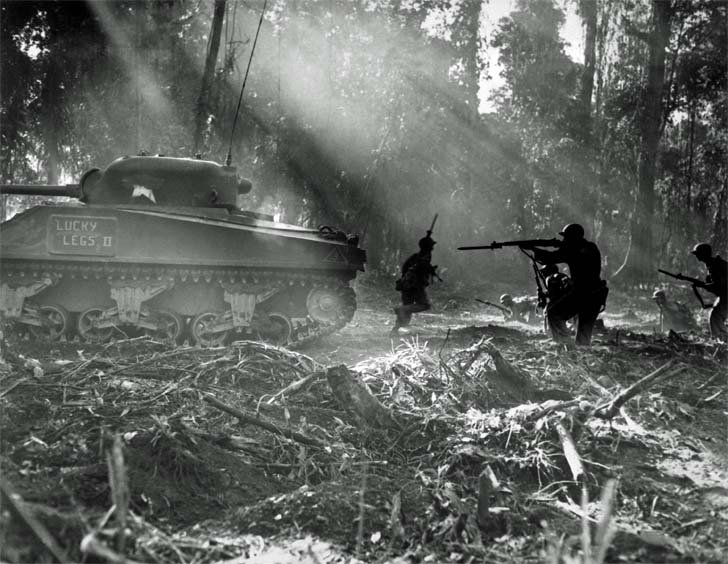 Americans in the battle on the island of Bougainville