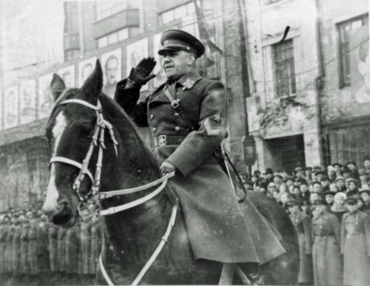 The Soviet Army General Georgy Zhukov