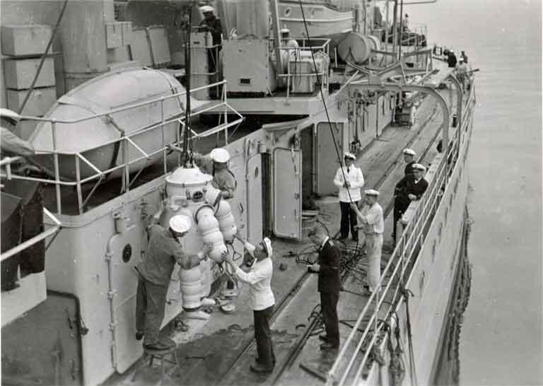 German deep-sea diving suit