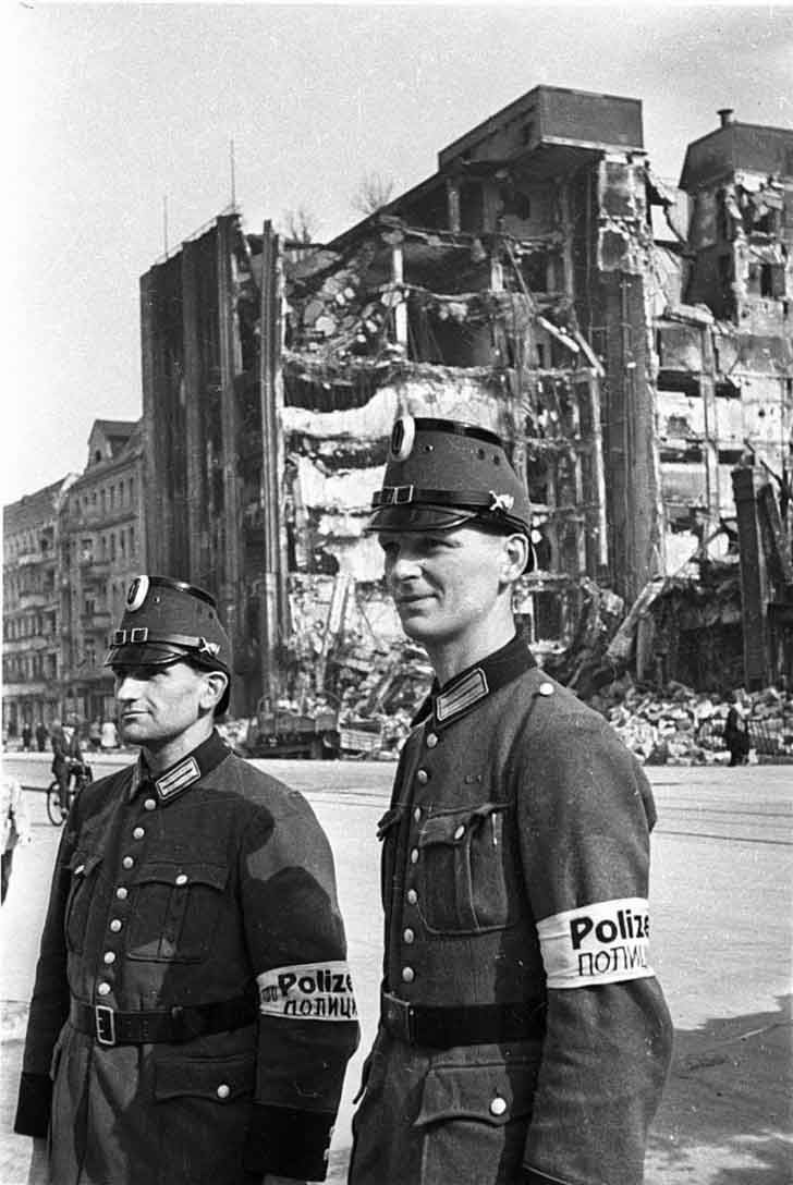 German police from the post-war administration