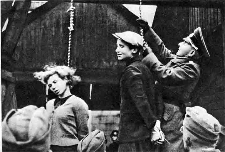 The execution by hanging of Soviet underground in Minsk