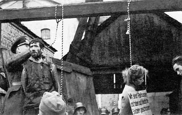 The first public execution in the Nazi-occupied territories