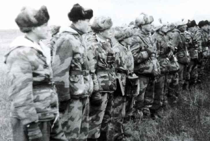 Winter uniforms of German soldiers in 1942