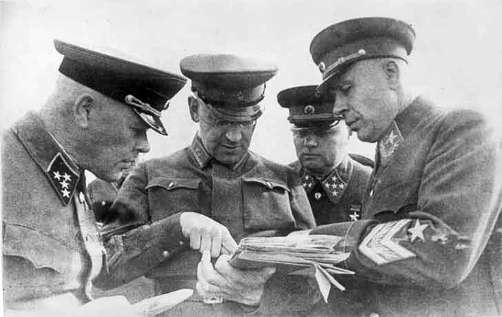 Marshal Semyon Timoshenko and other senior commanders of the Red Army